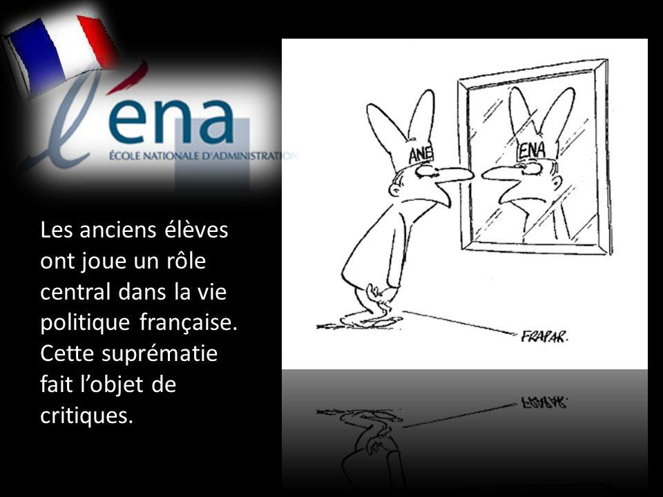 Les anciens élèves ont joue un rôle central dans la vie politique française.