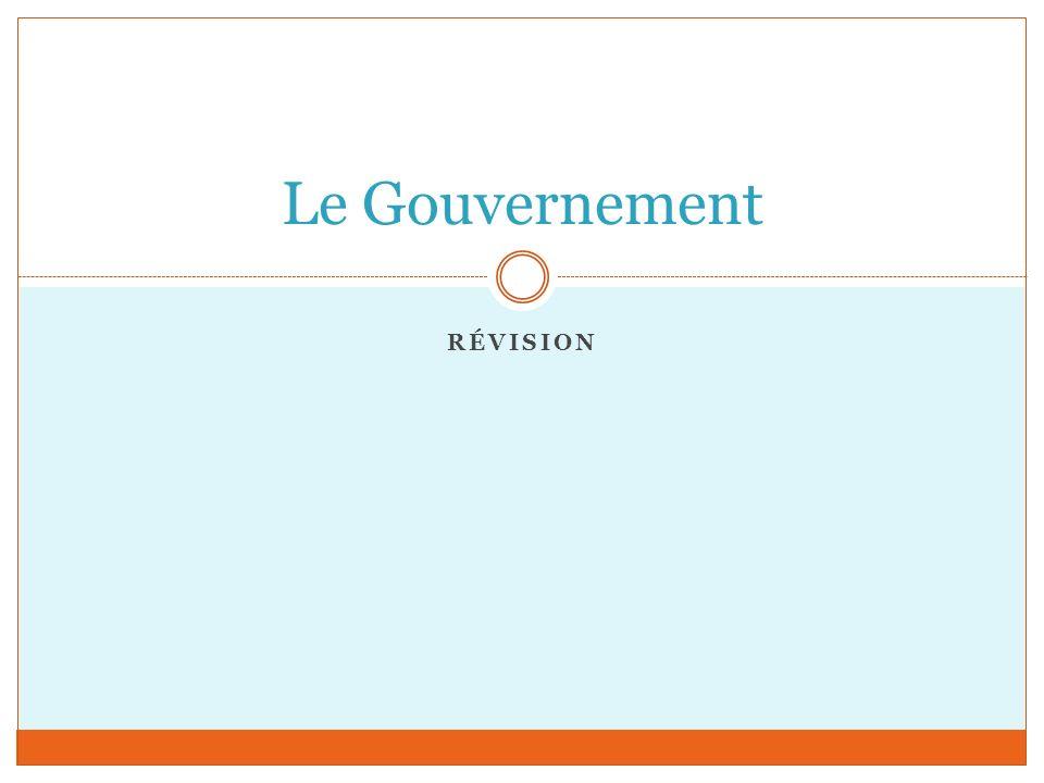 RÉVISION Le Gouvernement