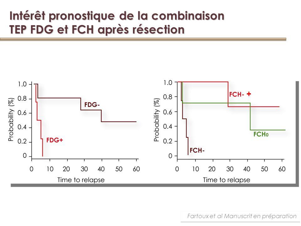 Intérêt pronostique de la combinaison TEP FDG et FCH après résection Fartoux et al Manuscrit en préparation +