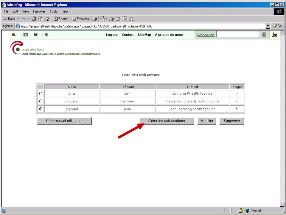 SPF SANTE PUBLIQUE, SECURITE DE LA CHAINE ALIMENTAIRE ET ENVIRONNEMENT 13 février 2008 13