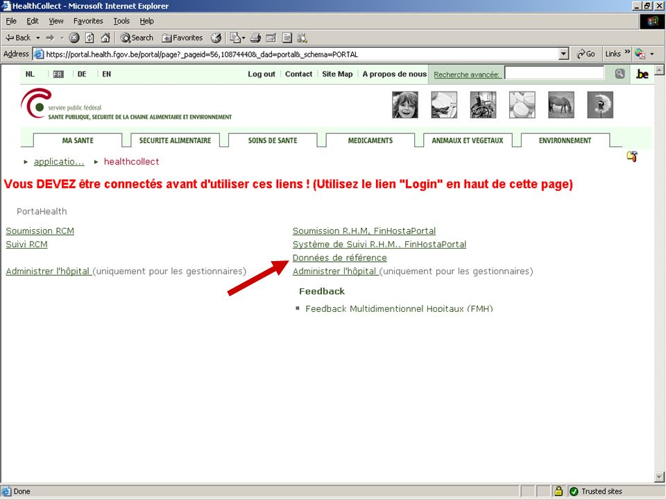SPF SANTE PUBLIQUE, SECURITE DE LA CHAINE ALIMENTAIRE ET ENVIRONNEMENT 13 février 2008 21