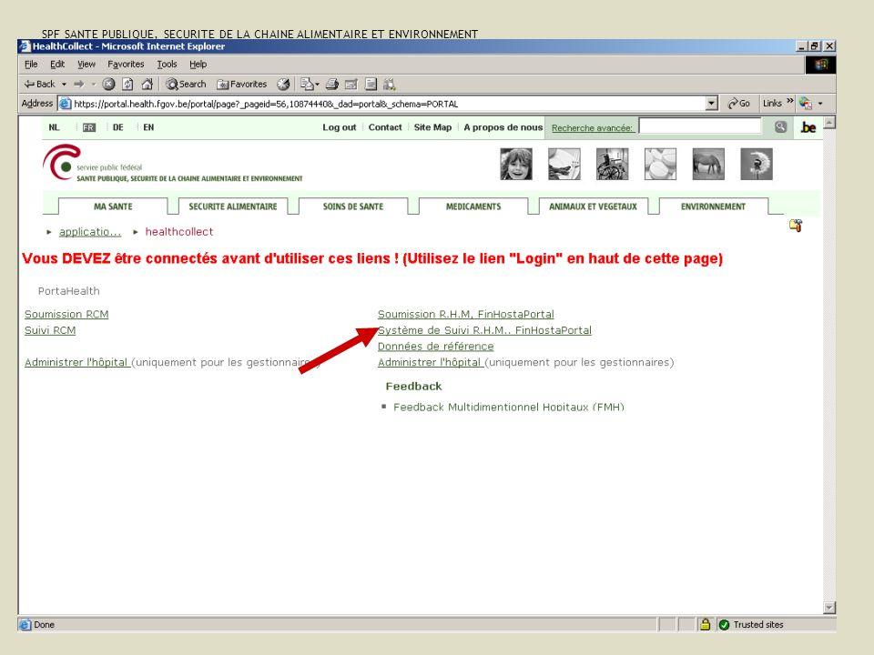 SPF SANTE PUBLIQUE, SECURITE DE LA CHAINE ALIMENTAIRE ET ENVIRONNEMENT 13 février 2008 33