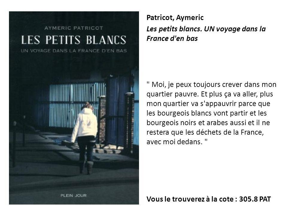 Patricot, Aymeric Les petits blancs. UN voyage dans la France d'en bas