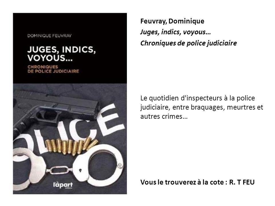 Feuvray, Dominique Juges, indics, voyous… Chroniques de police judiciaire Le quotidien d'inspecteurs à la police judiciaire, entre braquages, meurtres