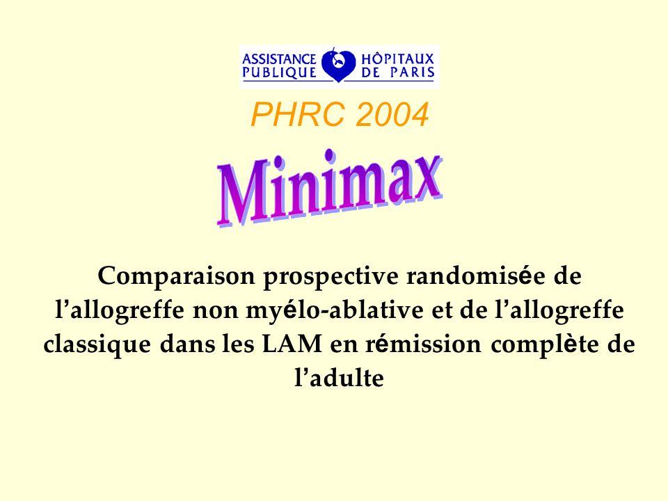 PHRC 2004 Comparaison prospective randomis é e de l allogreffe non my é lo-ablative et de l allogreffe classique dans les LAM en r é mission compl è t