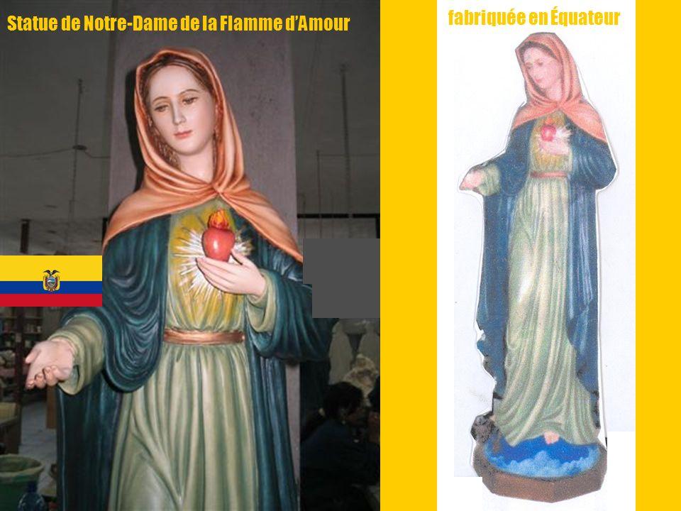 11 f Statue de Notre-Dame de la Flamme dAmour fabriquée en Équateur