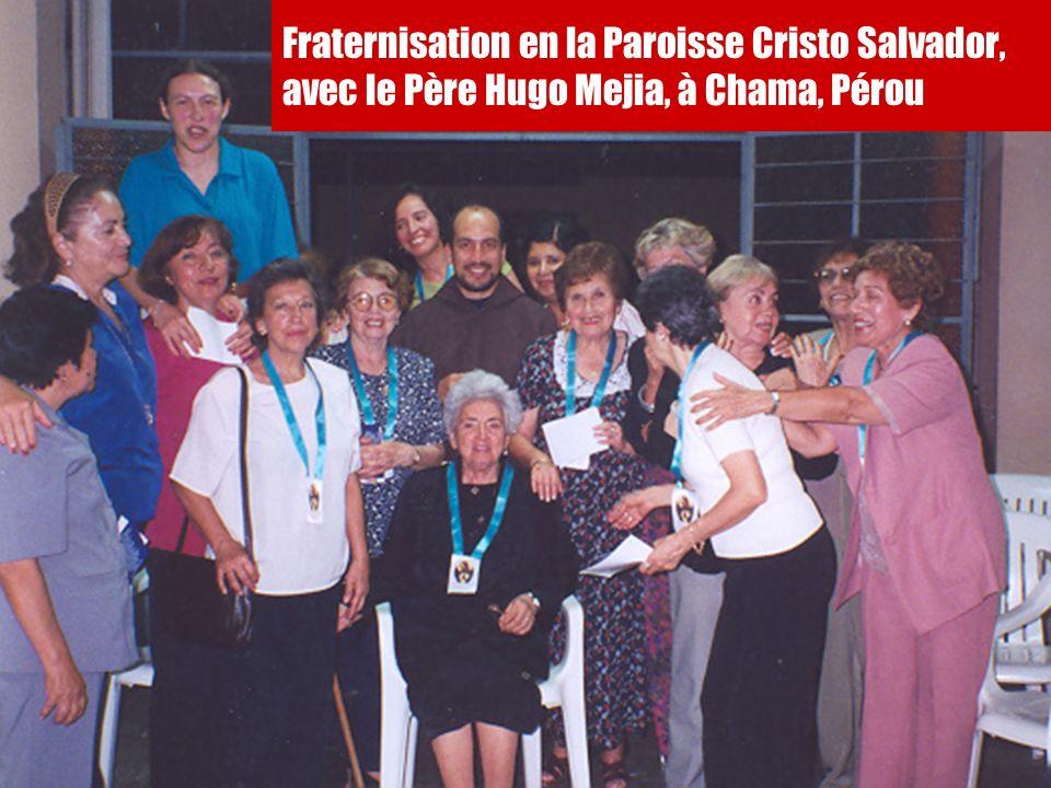 20 Fraternisation en la Paroisse Cristo Salvador, avec le Père Hugo Mejia, à Chama, Pérou
