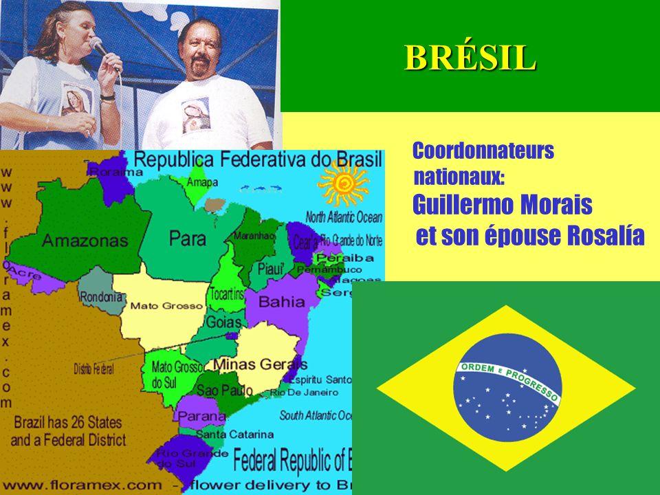 23 Coordonnateurs nationaux: Guillermo Morais et son épouse RosalíaBRÉSIL