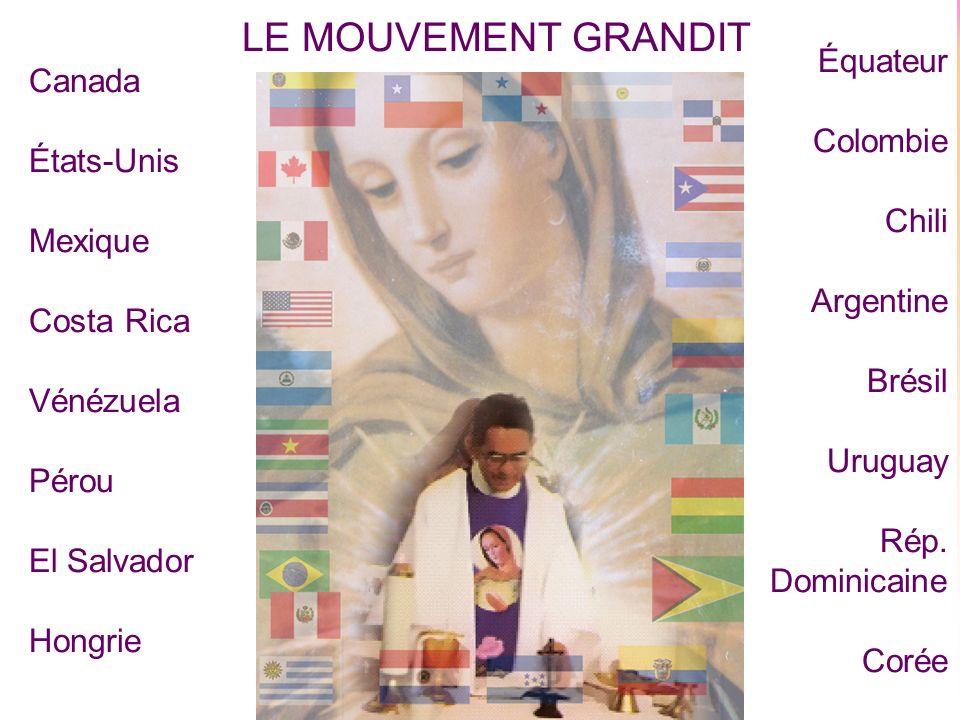 4 Le Père Gabriel Rona, en Hongrie, continue à animer, conseiller et accompagner spirituellement les membres du Mouvement au niveau mondial.