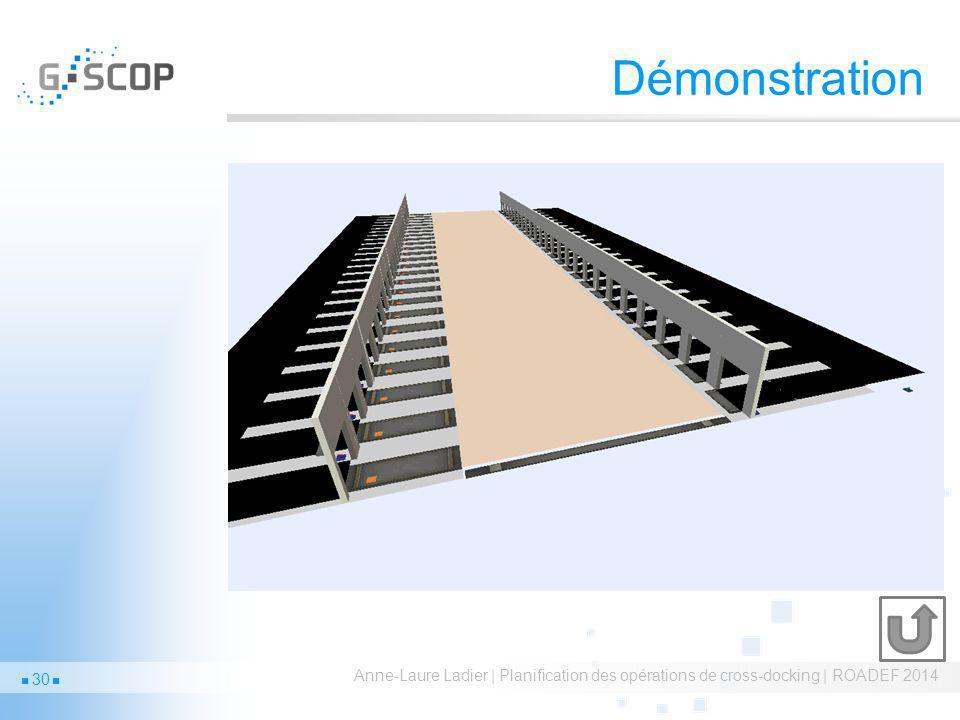 Démonstration Anne-Laure Ladier | Planification des opérations de cross-docking | ROADEF 2014 30