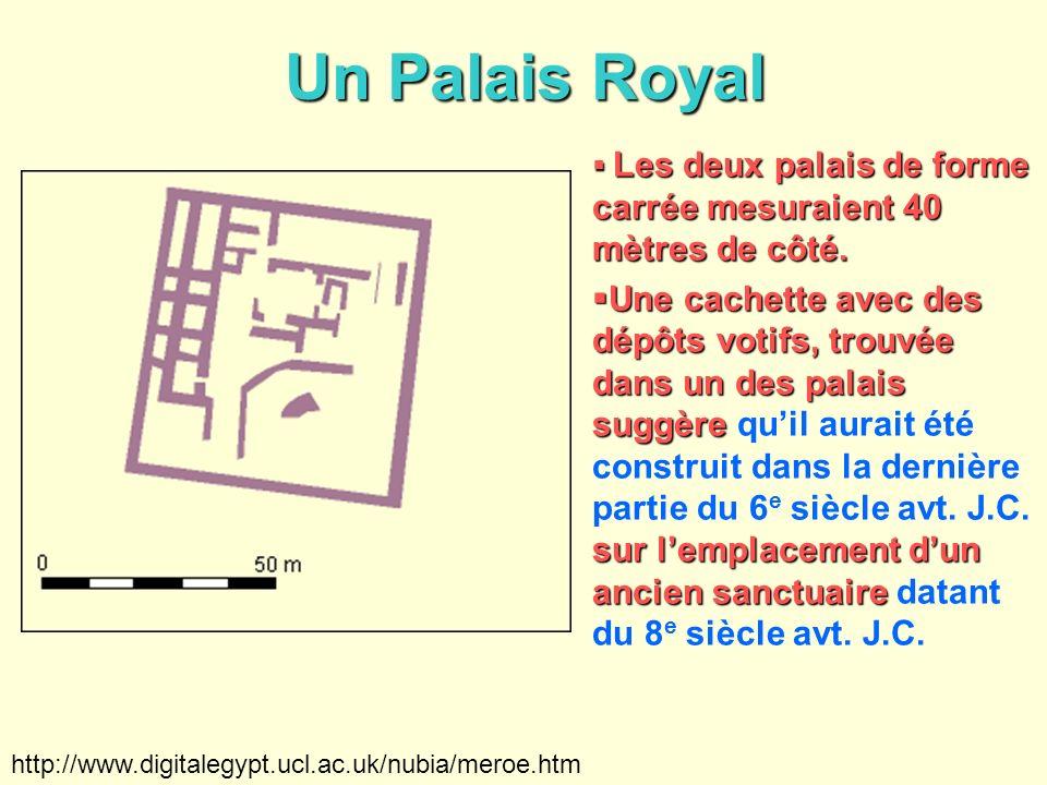 Un Palais Royal Les deux palais de forme carrée mesuraient 40 mètres de côté. Les deux palais de forme carrée mesuraient 40 mètres de côté. Une cachet