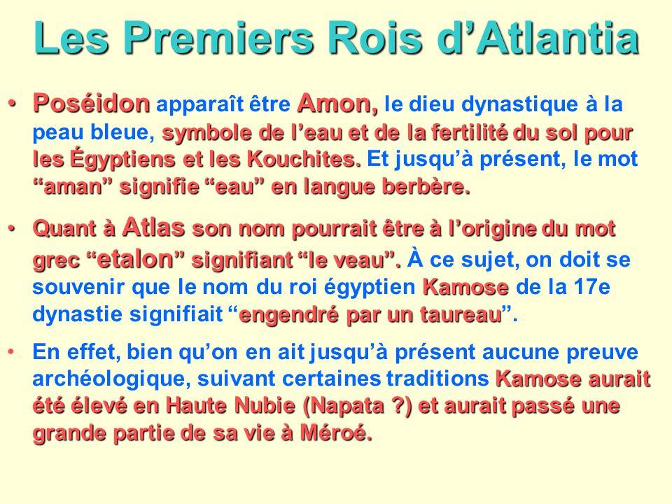 Les Premiers Rois dAtlantia PoséidonAmon, symbole de leau et de la fertilité du sol pour les Égyptiens et les Kouchites. aman signifie eau en langue b