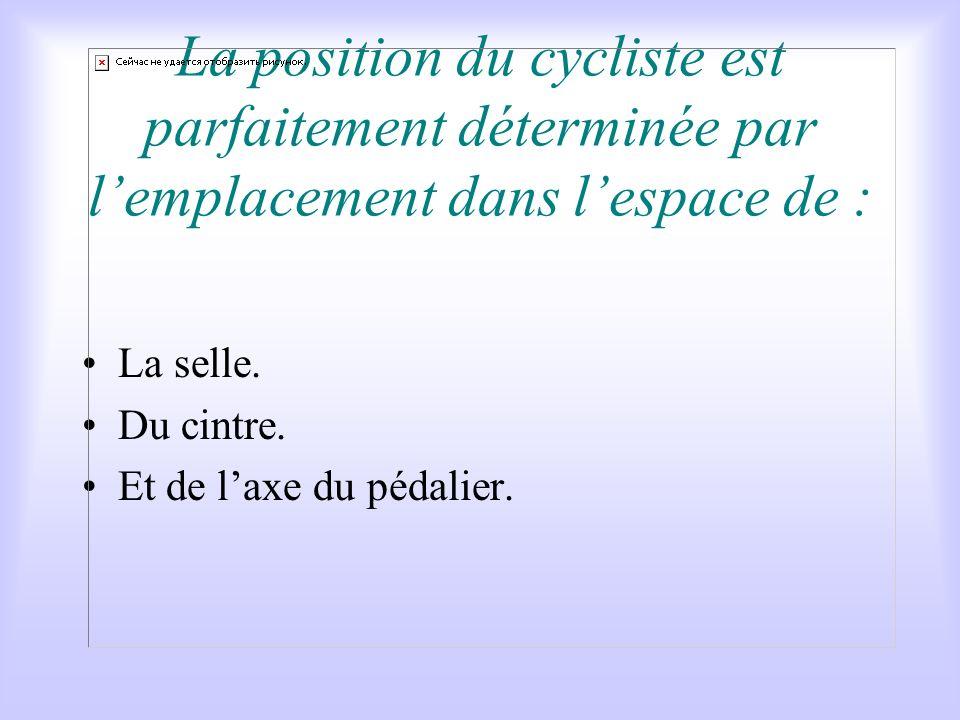 3) RAPPEL : LES REGLAGES DU VELO Sources :daprès Claude GENZLING et François Piednoir Pédaler intelligent Comment régler son vélo suivant sa morpholog