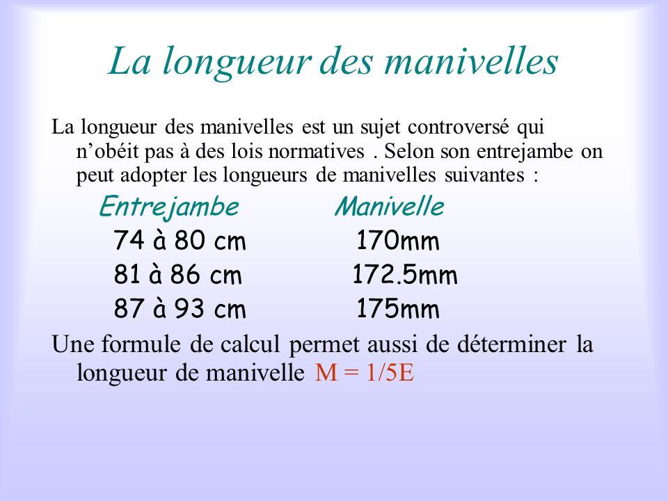 V - Les autres réglages Il sagit : De la longueur des manivelles. Du réglage cale pédale. De la largeur du cintre.