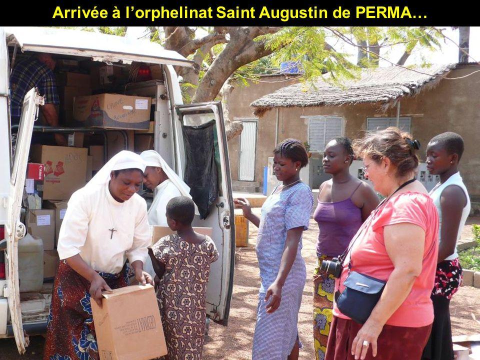 Arrivée à lorphelinat Saint Augustin de PERMA…