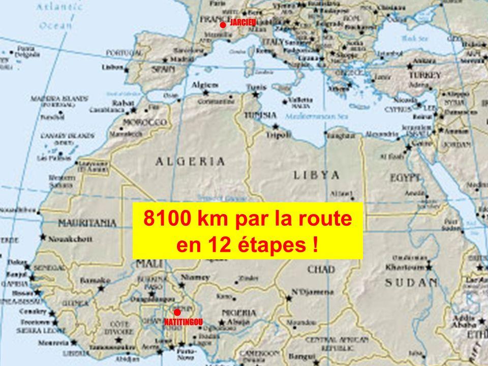 8100 km par la route en 12 étapes !