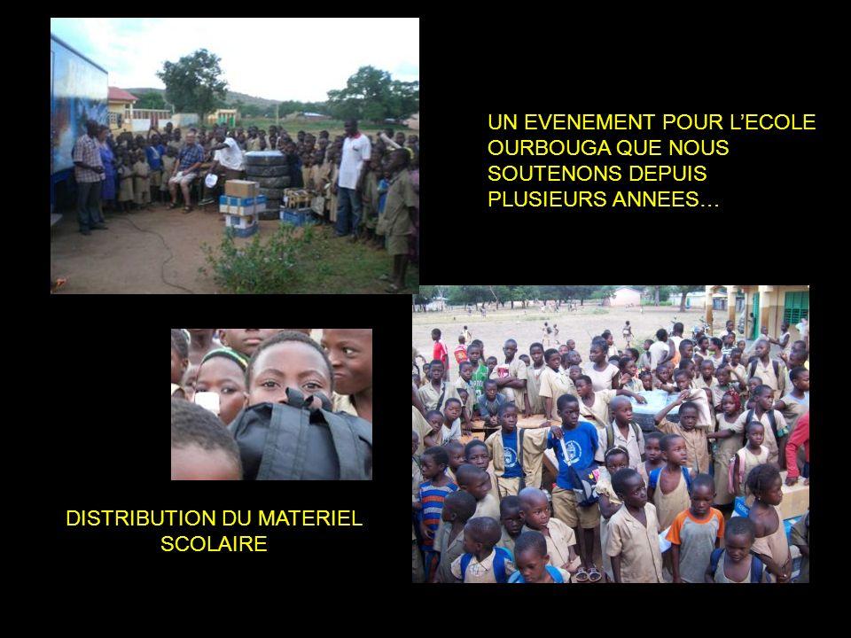 DISTRIBUTION DU MATERIEL SCOLAIRE UN EVENEMENT POUR LECOLE OURBOUGA QUE NOUS SOUTENONS DEPUIS PLUSIEURS ANNEES…