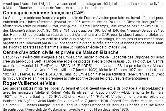 Henri Ferraris dans le Caudron 510 Pélican F-AOFS baptisé Jean Mermoz le 31 janvier 1937 (Anne-Marie De Sansonetti)