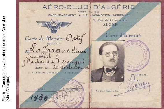 Pierre Laffargue, un des premiers élèves de lAéro-club (Alain Gibergue)