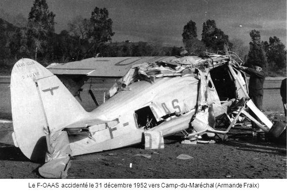 Le F-OAAS accidenté le 31 décembre 1952 vers Camp-du-Maréchal (Armande Fraix)