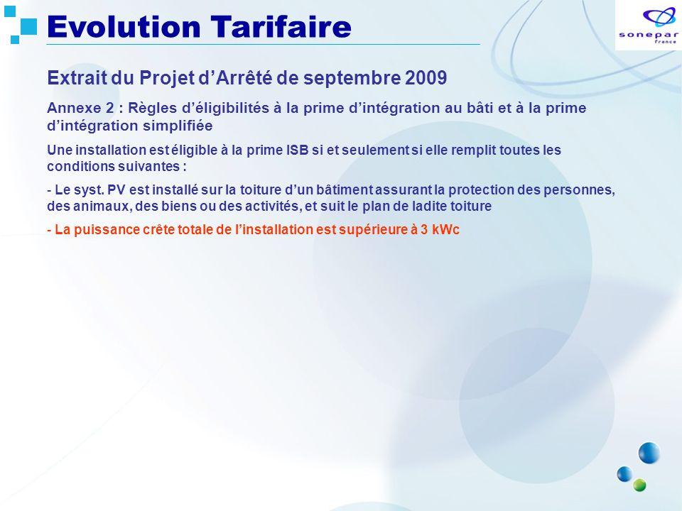Extrait du Projet dArrêté de septembre 2009 Annexe 2 : Règles déligibilités à la prime dintégration au bâti et à la prime dintégration simplifiée Une