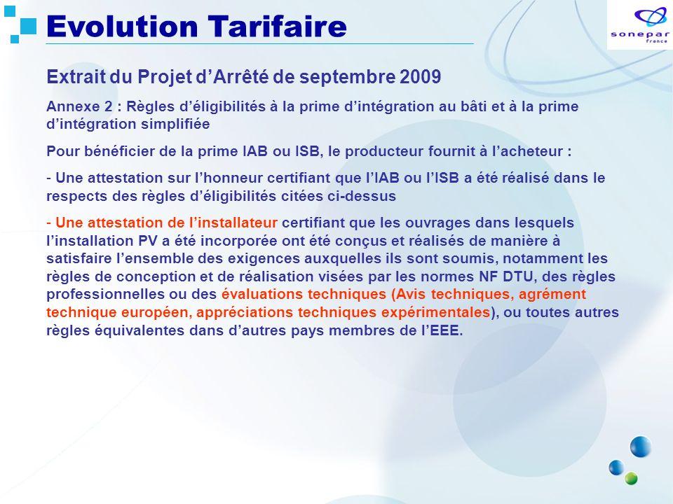 Extrait du Projet dArrêté de septembre 2009 Annexe 2 : Règles déligibilités à la prime dintégration au bâti et à la prime dintégration simplifiée Pour