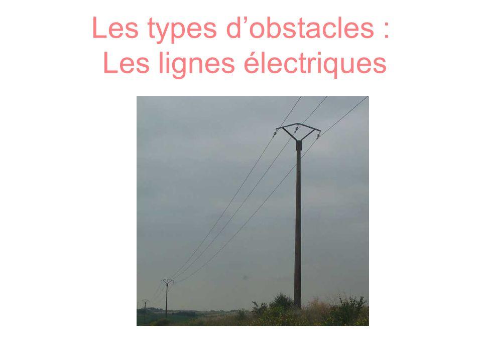 Les types dobstacles : Les lignes électriques