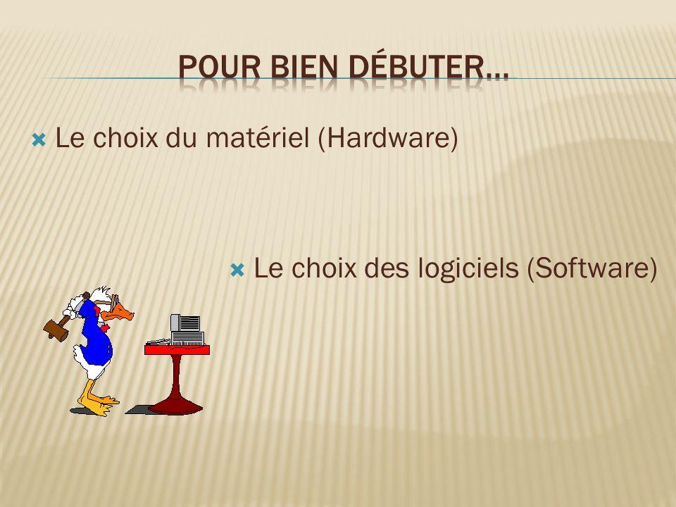 Le choix du matériel (Hardware) Le choix des logiciels (Software)