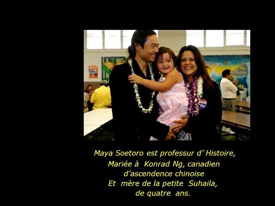 La famille Obama avec les filles, Malia Ann (10 ans) et Natasha (7 ans).