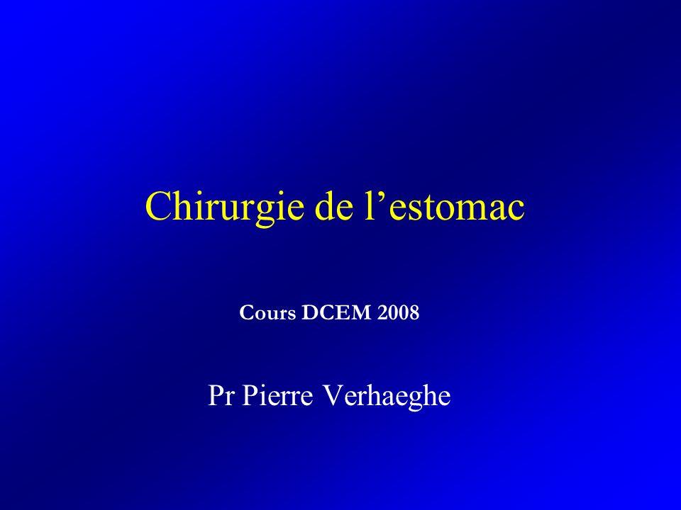 Chirurgie de lestomac Cours DCEM 2008 Pr Pierre Verhaeghe