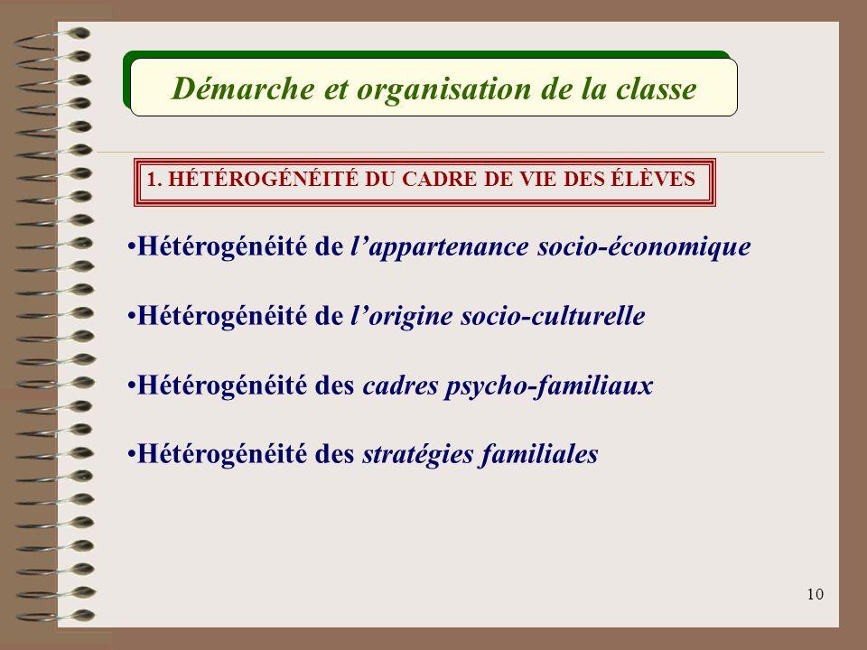 9 Constater lhétérogénéité au sein dun groupe-classe Comment différencier.