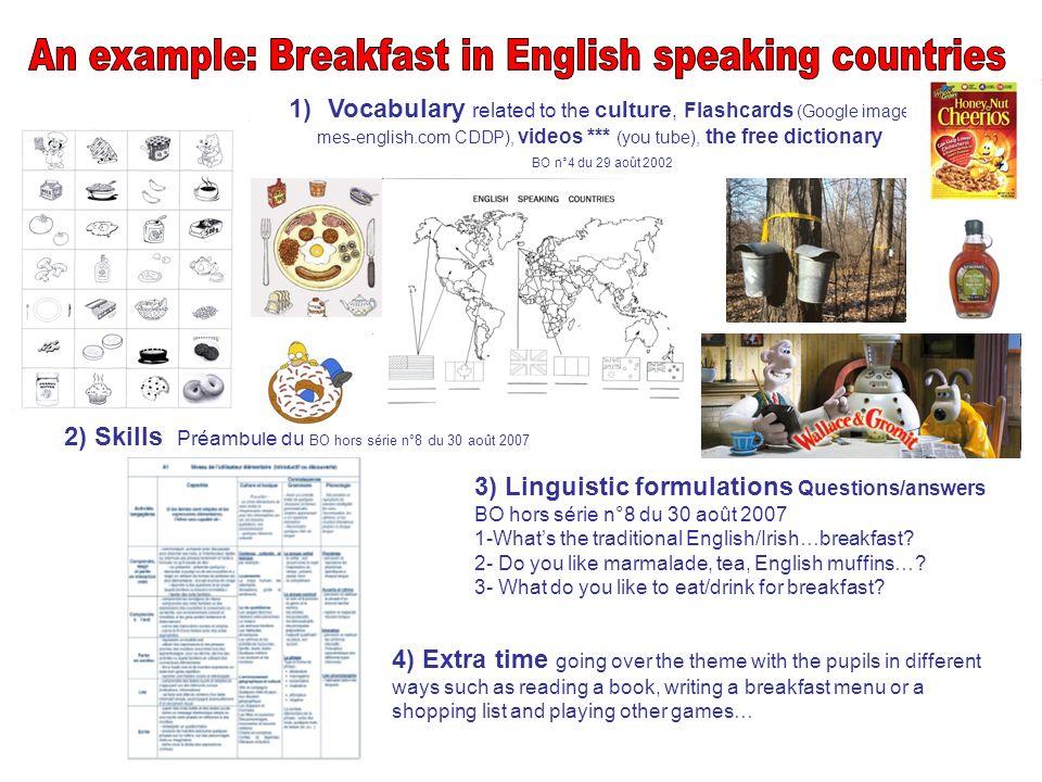 « Découvrir les petits déjeuners anglophones pour exprimer ses goûts.