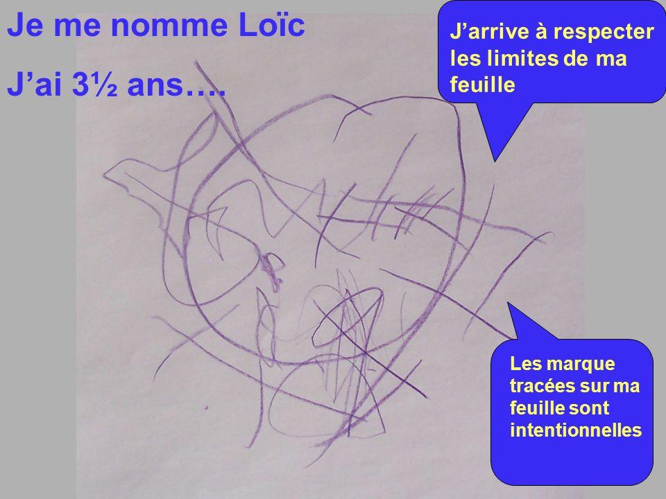 Je me nomme Loïc Jai 3½ ans….