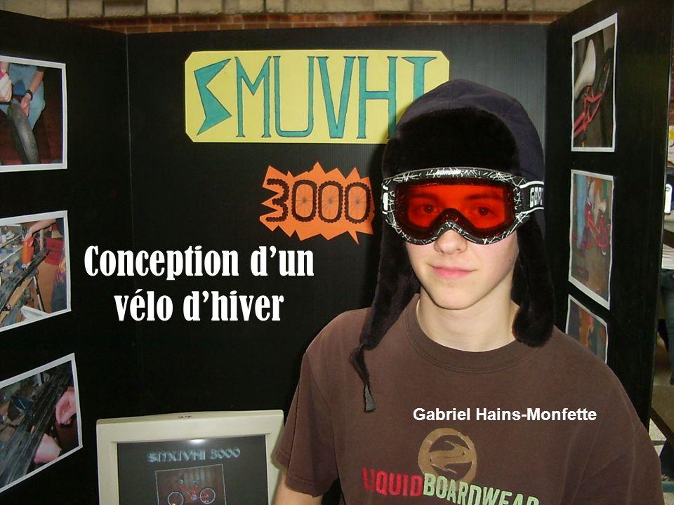 Conception dun vélo dhiver Gabriel Hains-Monfette