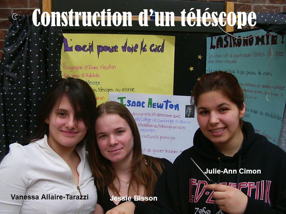 Construction dun téléscope Vanessa Allaire-Tarazzi Jessie Bisson Julie-Ann Cimon