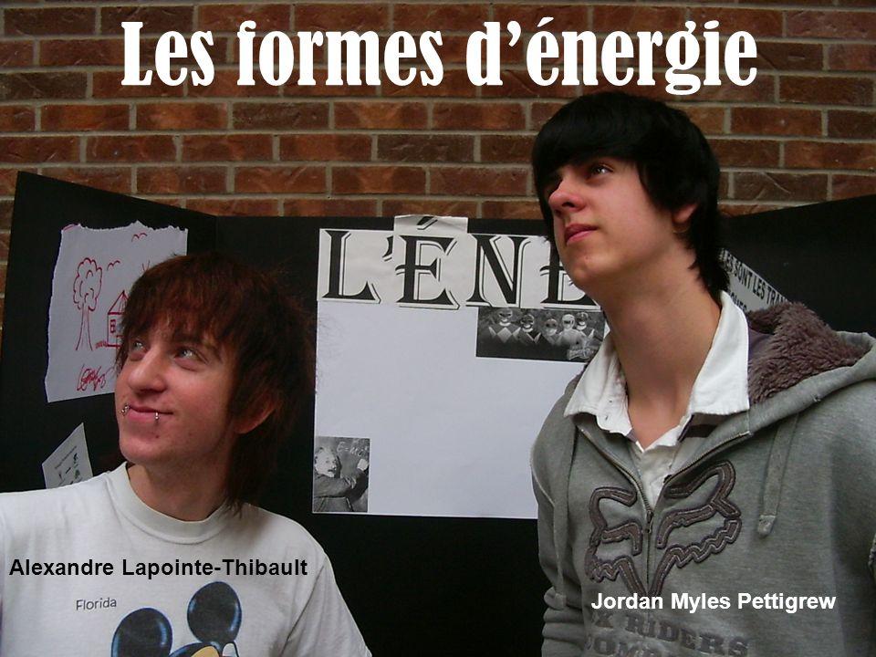 Les formes dénergie Alexandre Lapointe-Thibault Jordan Myles Pettigrew