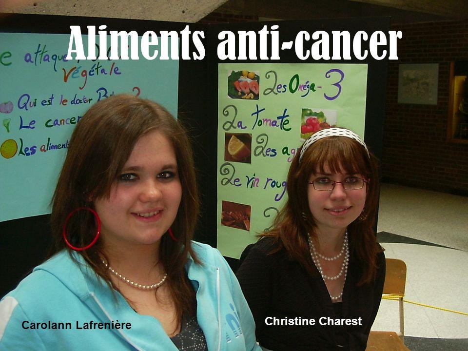 Aliments anti-cancer Carolann Lafrenière Christine Charest