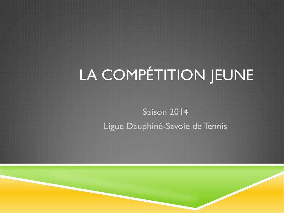 LA COMPÉTITION JEUNE Saison 2014 Ligue Dauphiné-Savoie de Tennis