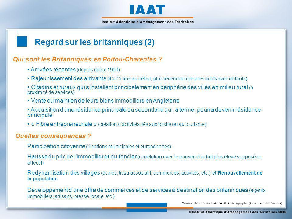 Regard sur les britanniques (2) Qui sont les Britanniques en Poitou-Charentes .