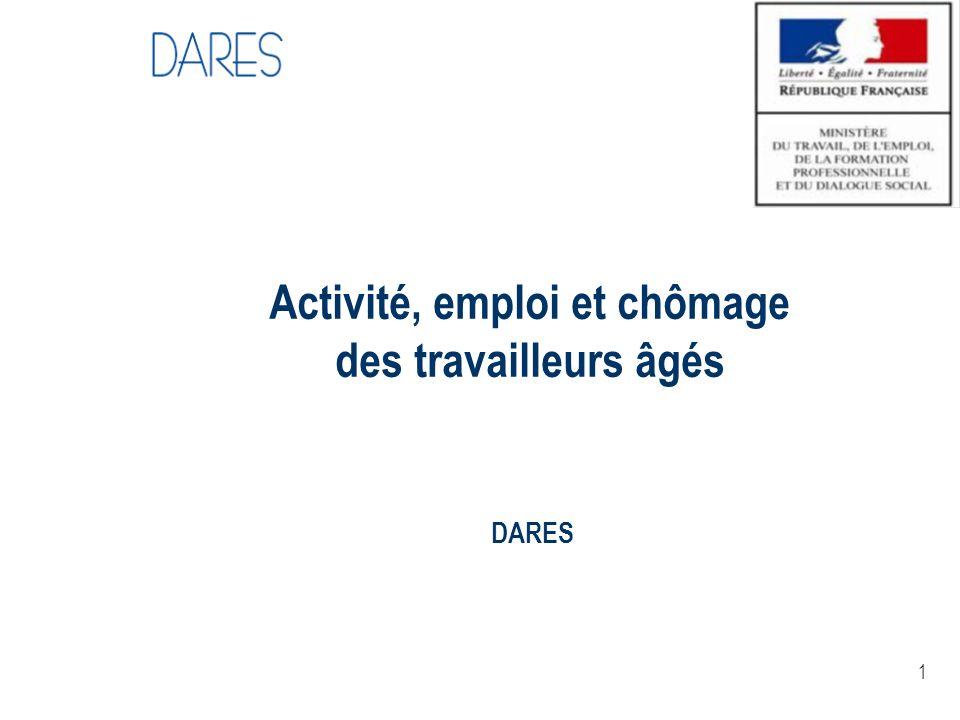 1 Activité, emploi et chômage des travailleurs âgés DARES