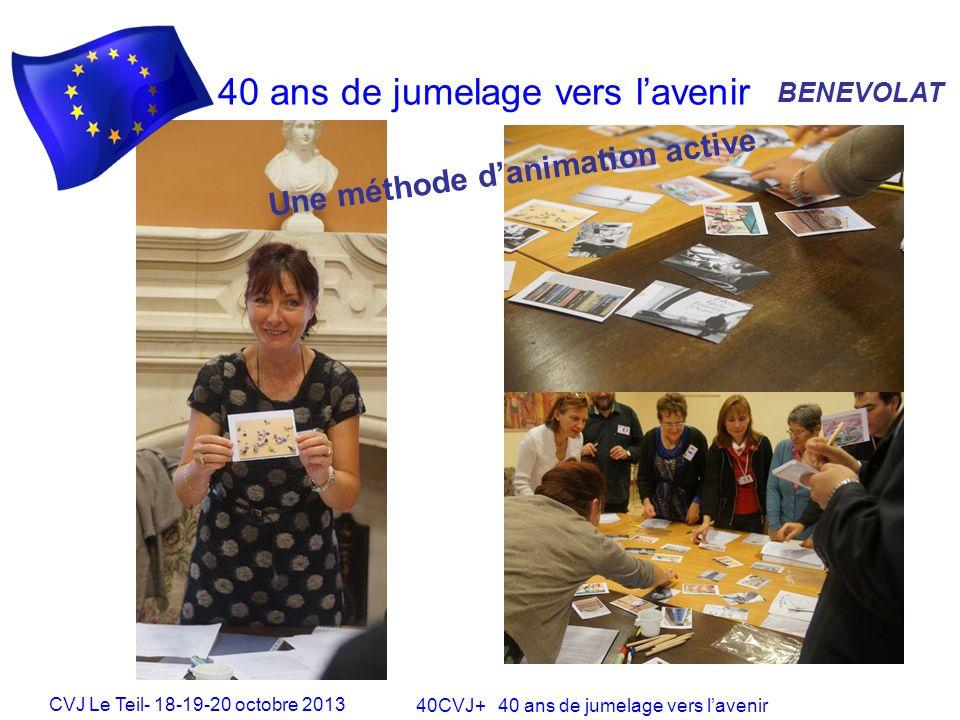 CVJ Le Teil- 18-19-20 octobre 2013 40CVJ+ 40 ans de jumelage vers lavenir 40 ans de jumelage vers lavenir JEUNESSE