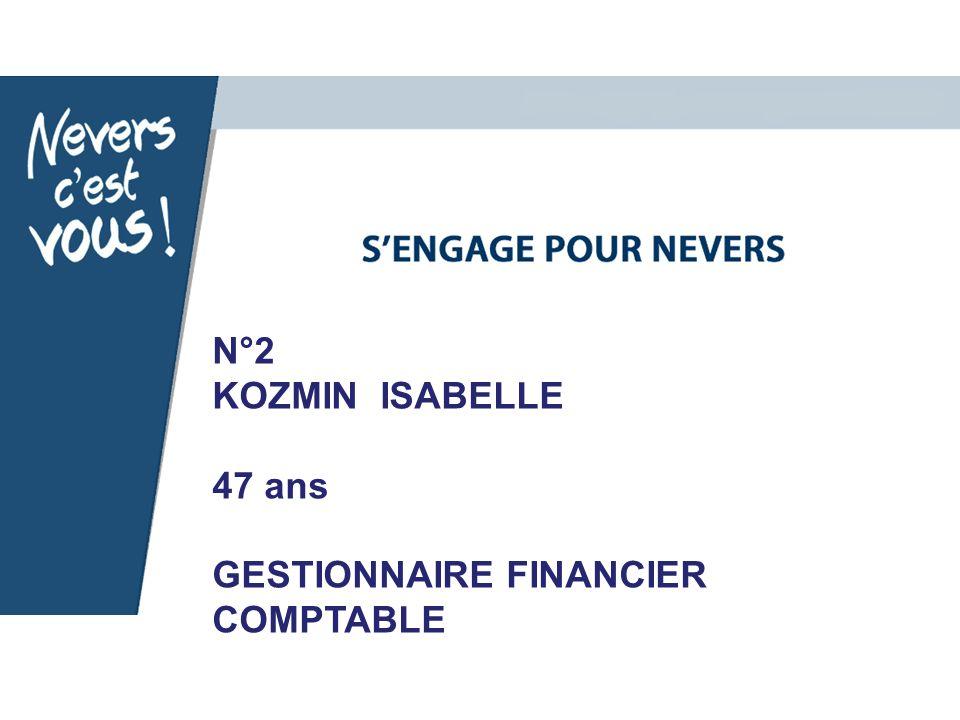 N°2 KOZMIN ISABELLE 47 ans GESTIONNAIRE FINANCIER COMPTABLE