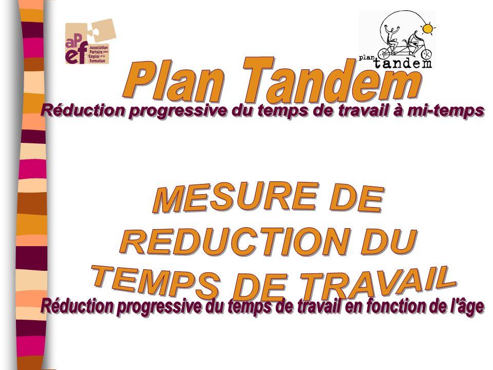 PUBLICS Travailleurs de plus de 50 ans qui réduisent leurs prestations à mi- temps dans le cadre du crédit- temps Condition: être au maximum de lancienneté barémique NIVEAUX DAPPLICATION Région Wallonne Communauté Française GESTION: Fonds social Old Timer AVANTAGES Indemnité complémentaire Embauche dun nouveau travailleur LEGISLATION CCT du 07/01/2003 et du 11/05/2004 Région Wallonne CCT du 13/01/2004 Communauté Française