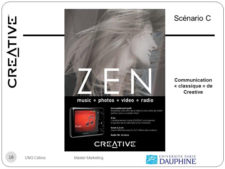 UNG Céline Master Marketing 18 Scénario C Communication « classique » de Creative