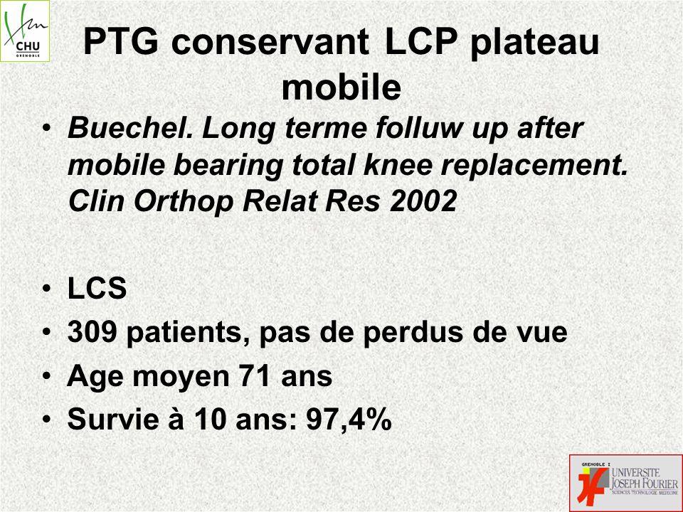 PTG postero-stabilisé plateau fixe Barrington et al.