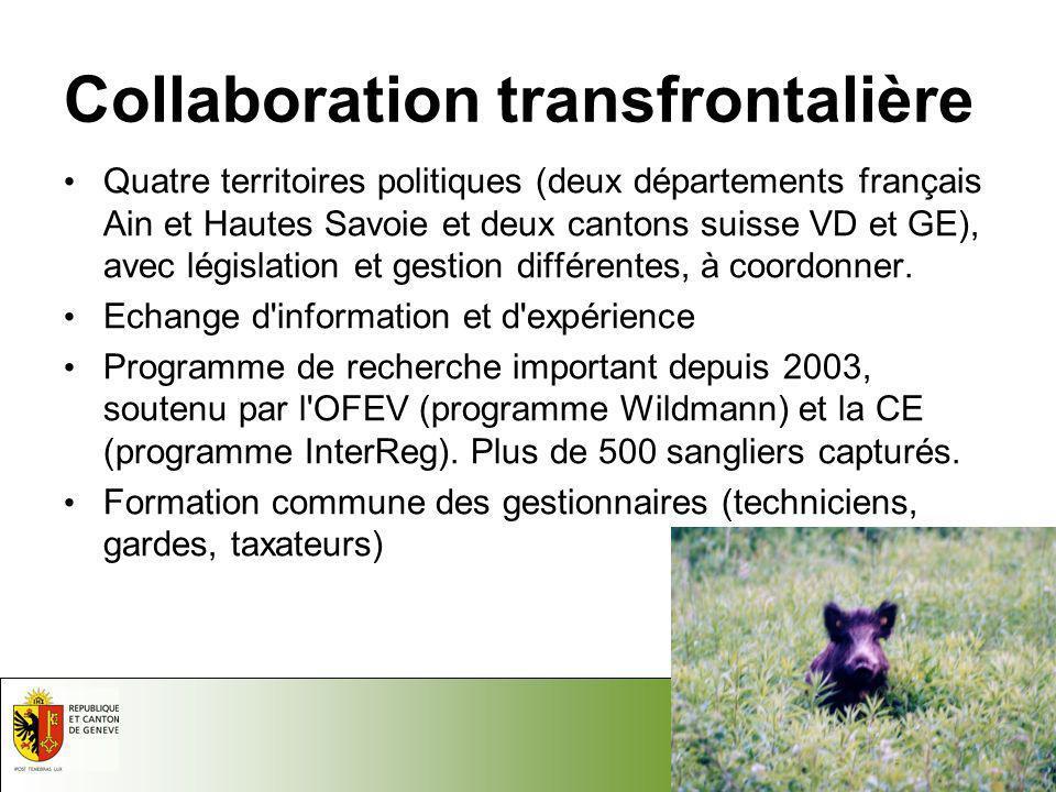 17.05.2014 - Page 4 Département du Territoire Domaine Nature et Paysage Inspection de la Faune et de la Pêche Collaboration transfrontalière Quatre te