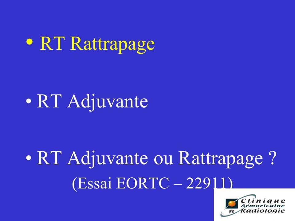 RT Rattrapage RT Adjuvante RT Adjuvante ou Rattrapage ? (Essai EORTC – 22911)