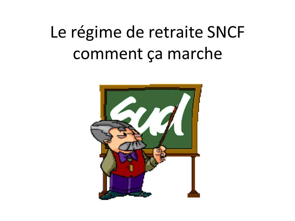 Le régime de retraite SNCF comment ça marche