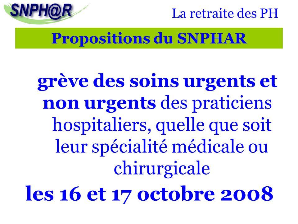 La retraite des PH grève des soins urgents et non urgents des praticiens hospitaliers, quelle que soit leur spécialité médicale ou chirurgicale les 16