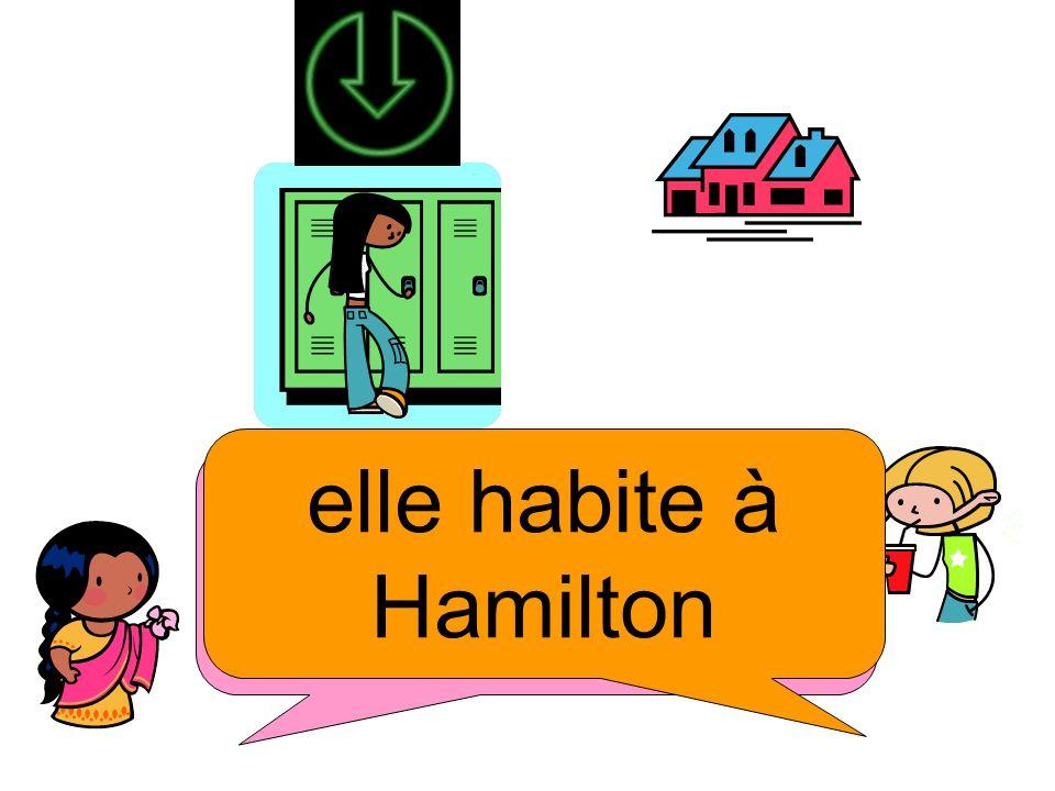 Où elle habite? elle habite à Hamilton